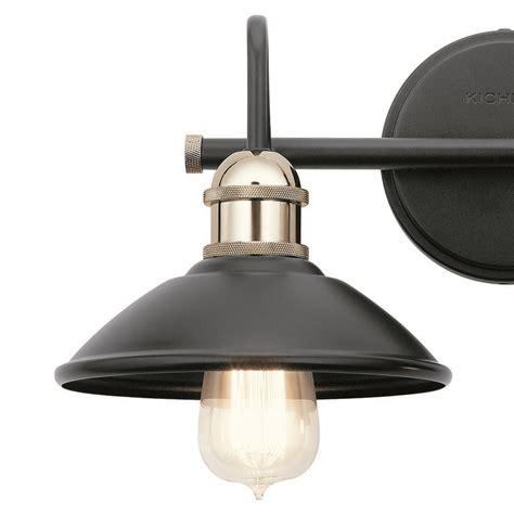 kichler lighting clyde black bathroom light bk