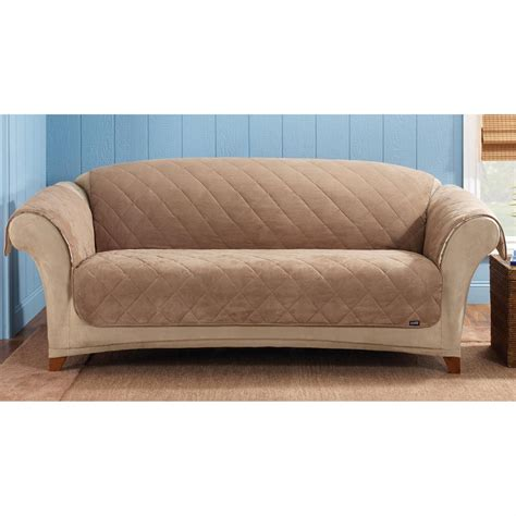 sure fit sofa covers sure fit reversible suede sherpa sofa pet cover