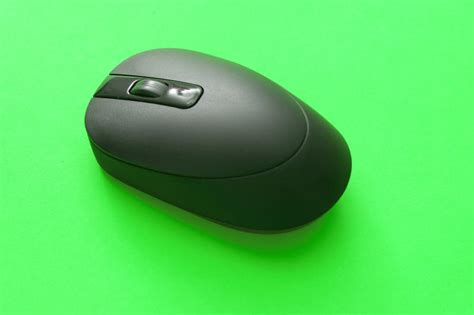 stock photo  black cordless computer mouse