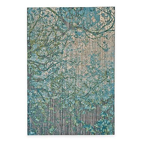 Feizy Keaton Branch Rug in Blue/Grey Bed Bath & Beyond