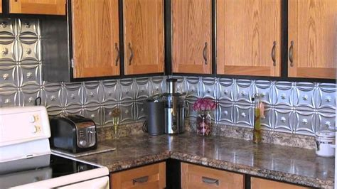 aluminum backsplash kitchen metal backsplash improved our kitchen