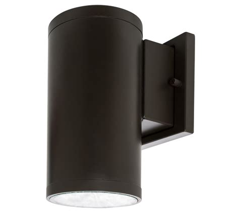 led wall sconce westgate led outdoor cylinder light up wall sconce