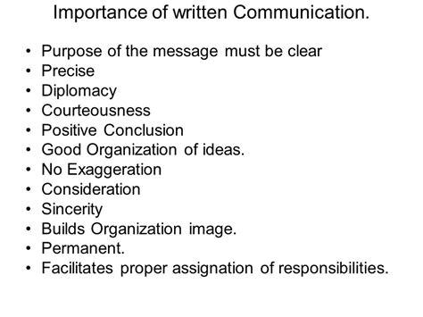 presentation on written communication the importance of