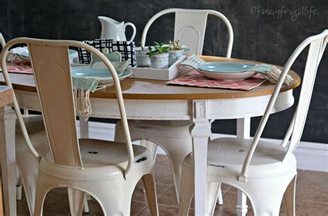 farm table with metal chairs white metal farmhouse style chairs for the kitchen