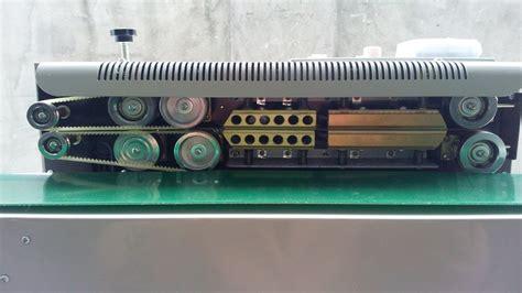 horizontal continuous plastic bag sealing machine semi automatic pe pp bags sealer printer