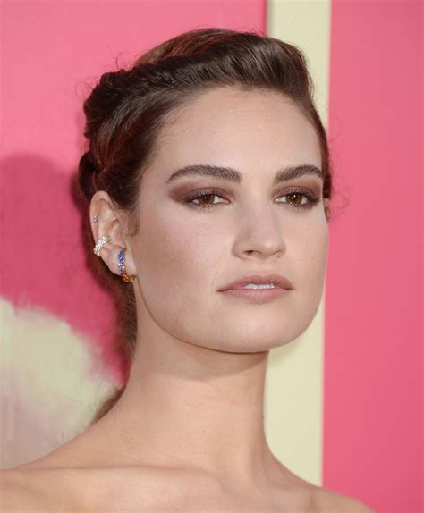 twisted ponytail  lily james red carpet style krazy