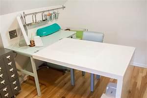 Ikea Hack Expedit : an ikea hack craft desk makeover one dog woof ~ Frokenaadalensverden.com Haus und Dekorationen