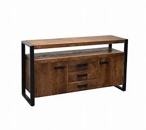 Sideboard Schwarz Holz : sideboard industriedesign anrichte metall holz breite 145 cm ~ Whattoseeinmadrid.com Haus und Dekorationen