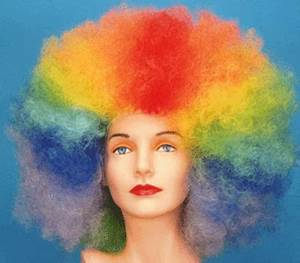 Sports Rainbow Afro Wig