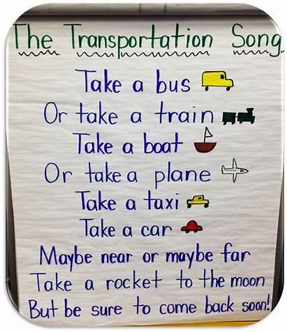 Transportation Activities Songs Preschool Song Kindergarten Theme