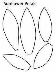 Sunflower Petal Template Printable