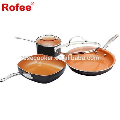 copper cookware pcs aluminum ceramic  stick titanium cooking pot cookware set buy copper