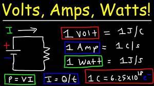Watt Volt Ampere : volts amps watts explained youtube ~ A.2002-acura-tl-radio.info Haus und Dekorationen