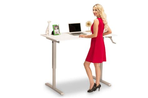 hand crank standing desk multitable hand crank height adjustable desk with large