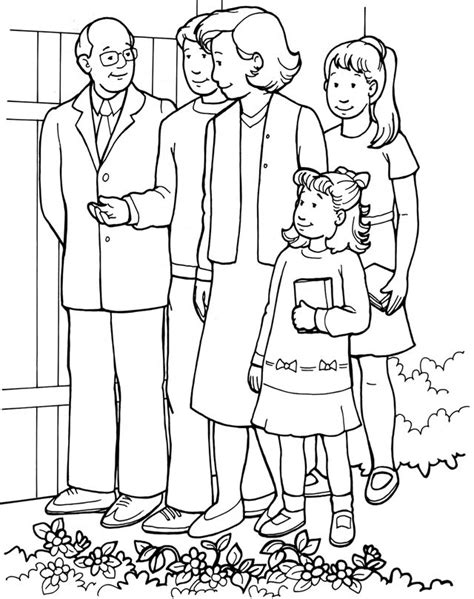 church   people coloring page family   church coloring pages family   church