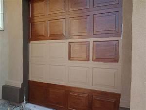 Kid Friendly luxury Home: Faux Wood Garage doors