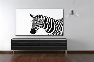 Tableau Contemporain Grand Format : tableau noir et blanc decors muraux design izoa ~ Teatrodelosmanantiales.com Idées de Décoration