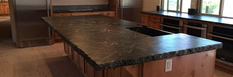 Long Tiles For Bathroom by How To Install A Soapstone Countertop Dark Brown Hairs