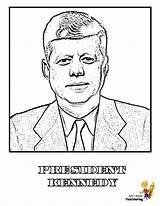 Coloring Presidents President Pages Kennedy Jfk Yescoloring Printables Print Usa Prestigious America Patriotic Boys sketch template