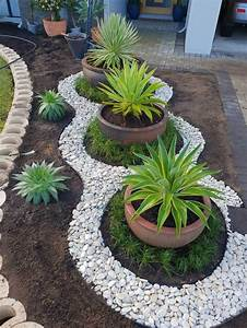 46, Funky, Garden, Dividers, 50, Beautiful, Front, Yard, Landscaping, Ideas, Jardines, Pinterest