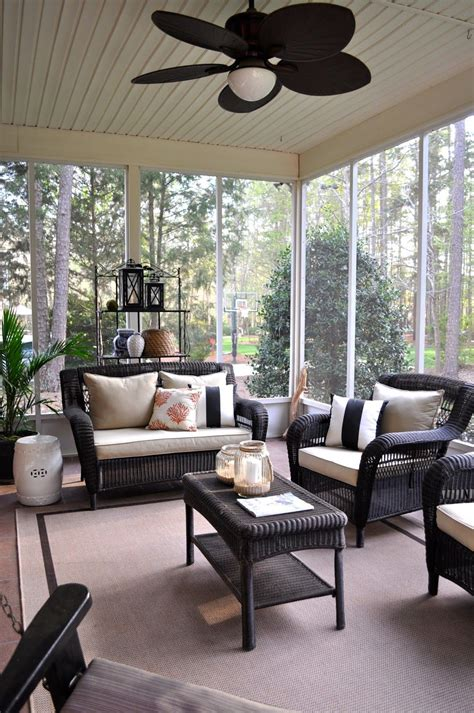 Porch And Patio Furniture by The Collected Interior Home Tour Screened Porch With
