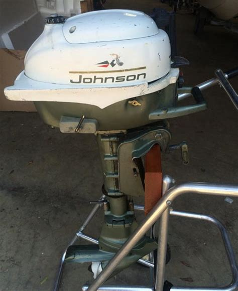 hp johnson small outboard   canoe dingy jon boat