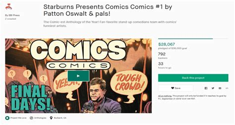 patton oswalt league of their own patton oswalt mocks comicsgate while own comic book