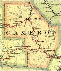 Cameron County PA Map