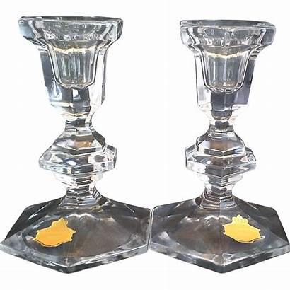 Lead Bleikristall Crystal Candle Holders Beyer Candlesticks