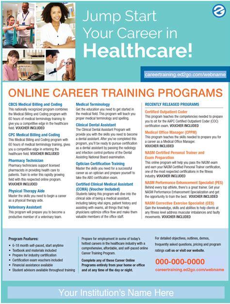 flyer advanced career training healthcare courses