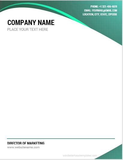 company letterhead templates word microsoft word