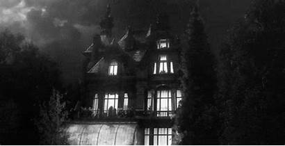 Spooky Houses Around Scary Dark Night Haunted