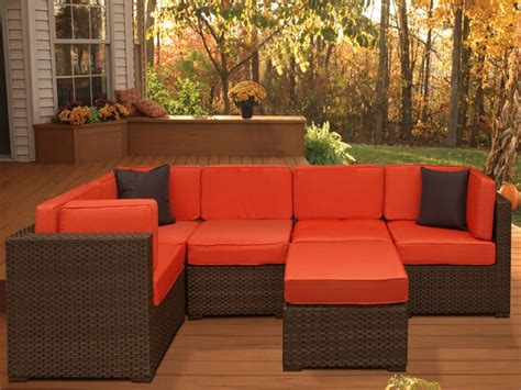 Furniture Outdoor Patio by Bellagio 6 Pc Resin Wicker Sectional Set Plibell6