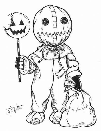 Coloring Sam Horror Pages Halloween Adult Deviantart