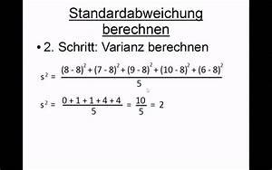 Standardabweichung Berechnen Formel : standardabweichung berechnen youtube ~ Themetempest.com Abrechnung