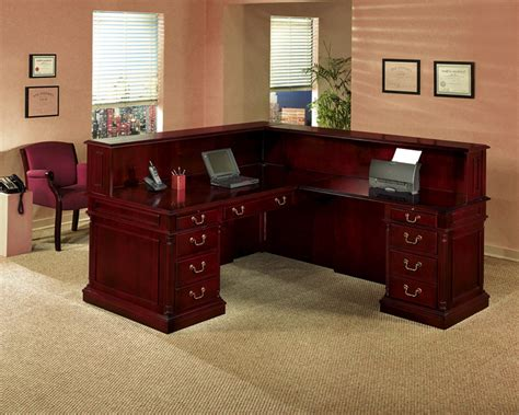 Traditional Reception Desk by Keswick Traditional Reception L Desk Reception Desks
