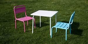 Salon De Jardin Pour Enfant : salon de jardin children table blanche et deux chaises ~ Dailycaller-alerts.com Idées de Décoration