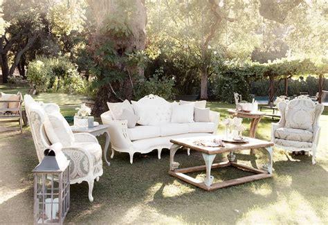 tufted furniture rentals give  wedding  glam