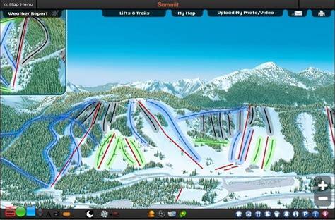 snoqualmie summit map ski trail resort snow skiing mountain
