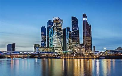 Moscow 4k Sunset Russia Buildings Skyscrapers Desktop