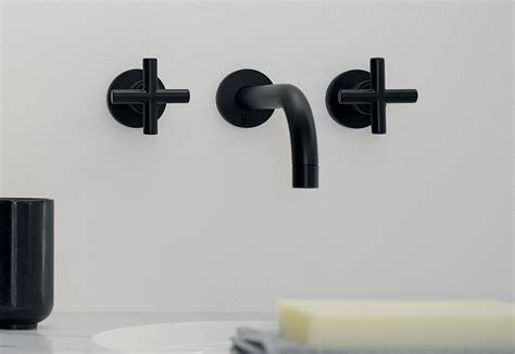 tara black wall mounted basin mixer  dornbracht stylepark