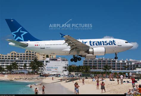 c gpat air transat airbus a310 at sint maarten princess juliana intl photo id 180292