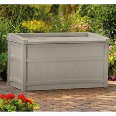 suncast premium deck box with seat step2 resin 38 gallon deck box and storage bench decking