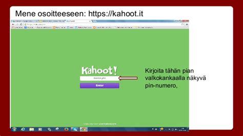 Kahoot-ohje