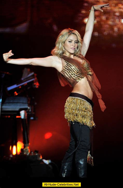 Shakira performing during Rock in Rio music Festival in Spain