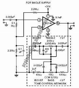 Electronics Technology  Tone Control Circuits Using Ca3140