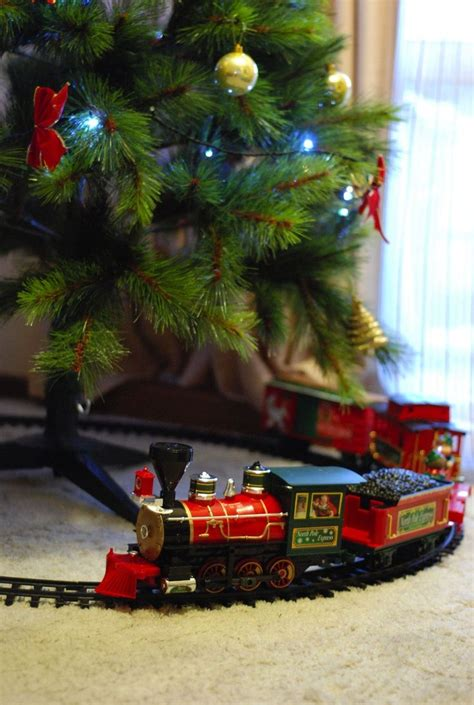 toy train going around top of a tree 147 best trains trains images on time and