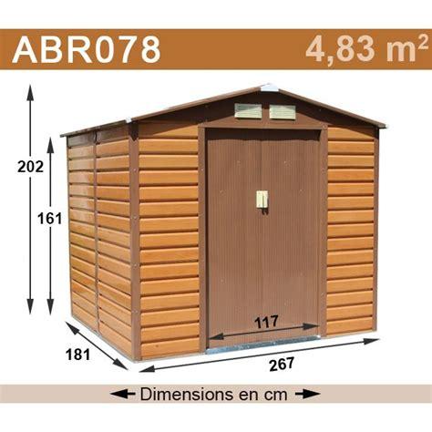 abri de jardin m 233 tal 4 83 m2 aspect bois kit d ancrage inclus trigano store
