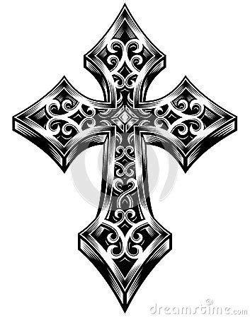 Ornate Celtic Cross Vector | C - Crosses/Religious images | Tribal cross tattoos, Celtic cross