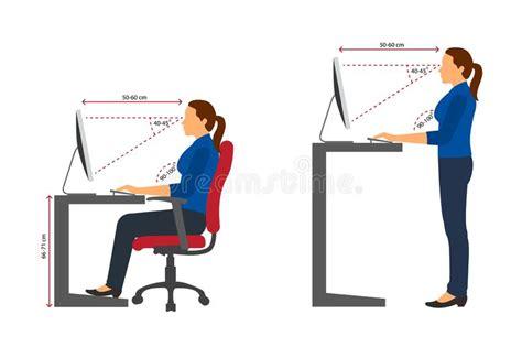 posizione seduta corretta mucca per mezzo di un mop illustrazione vettoriale